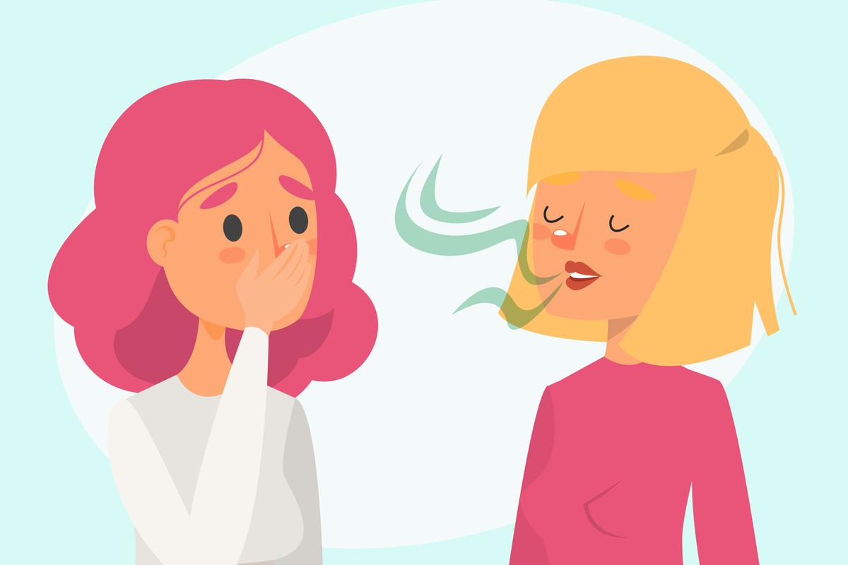 rossz lehelet az orrán