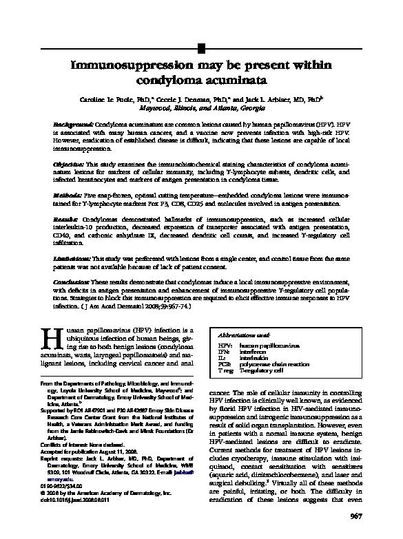 immun condyloma